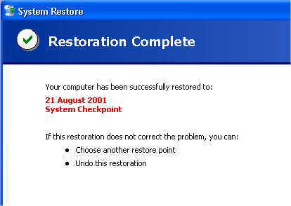 Delete all system restore files