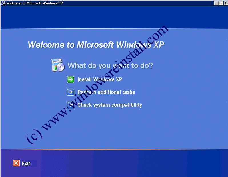 Page 1 : Windows XP Upgrade Install step by step