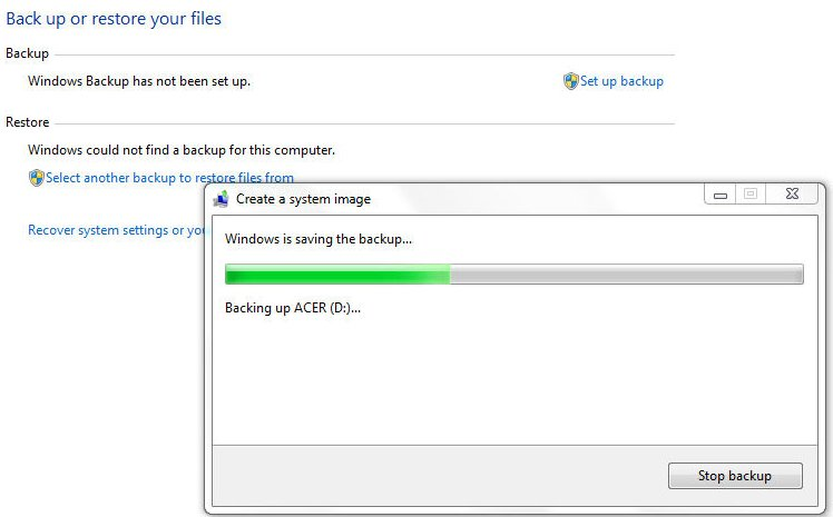 spin 7 how to make a restore disk