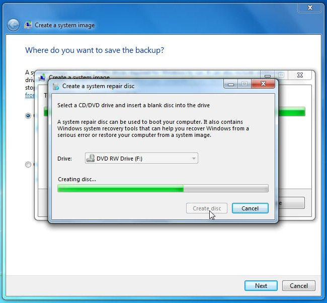 how to make a win 7 repair disc