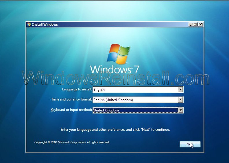 how to clean hard drive and install windows 7