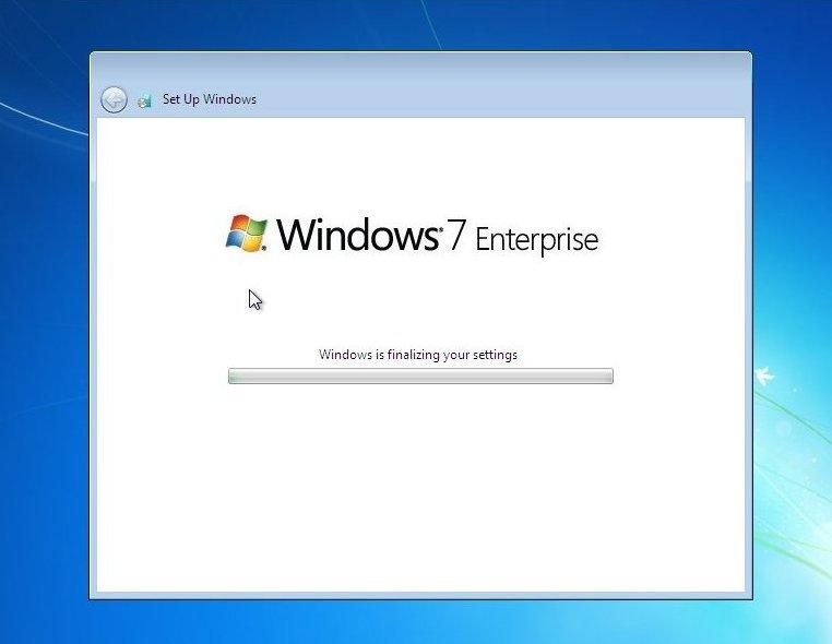 comment installer Windows 7 entreprise