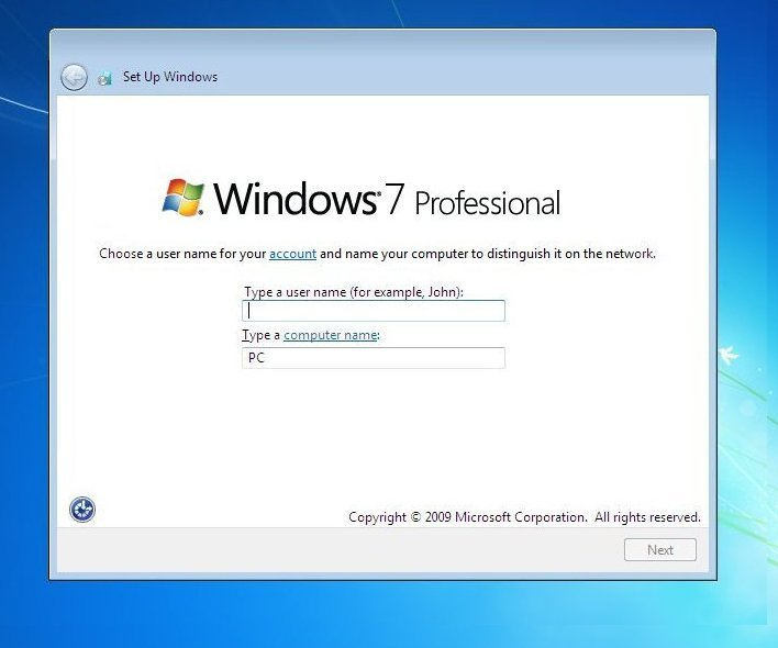 how to install windows 7 on a new hard drive