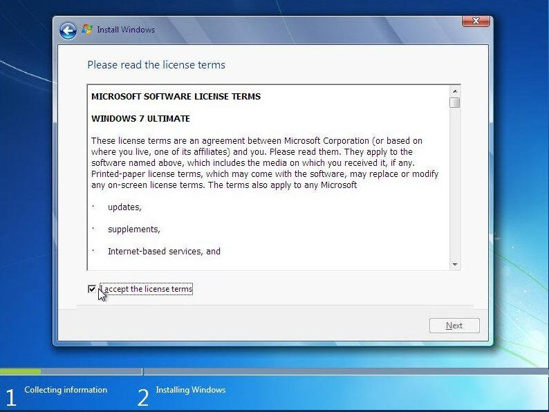how to reinstall windows on a new hard drive