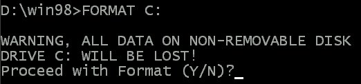 how to format c drive from bios