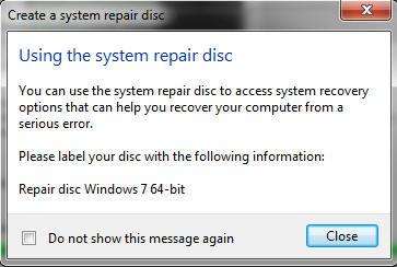 how to create windows 10 winre disc
