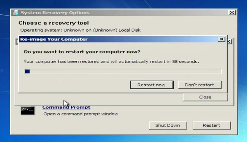 choose a recovery tool operating system unknown